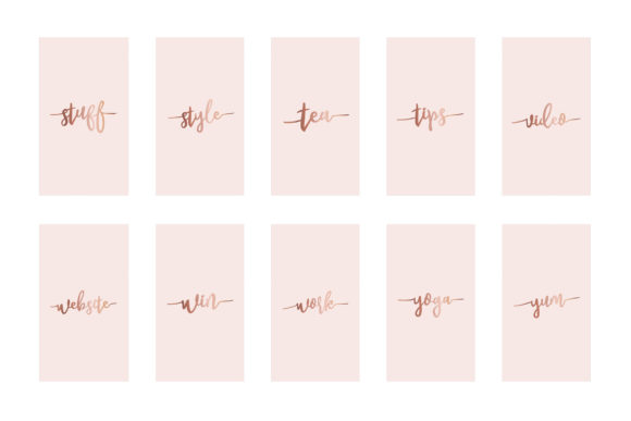 Instagram Highlight Covers Rose Gold Graphic Graphic Templates By Design Owl - Image 6