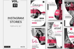 Download Free Instagram Stories Template Pack Vol 11 Graphic By Lukman for Cricut Explore, Silhouette and other cutting machines.