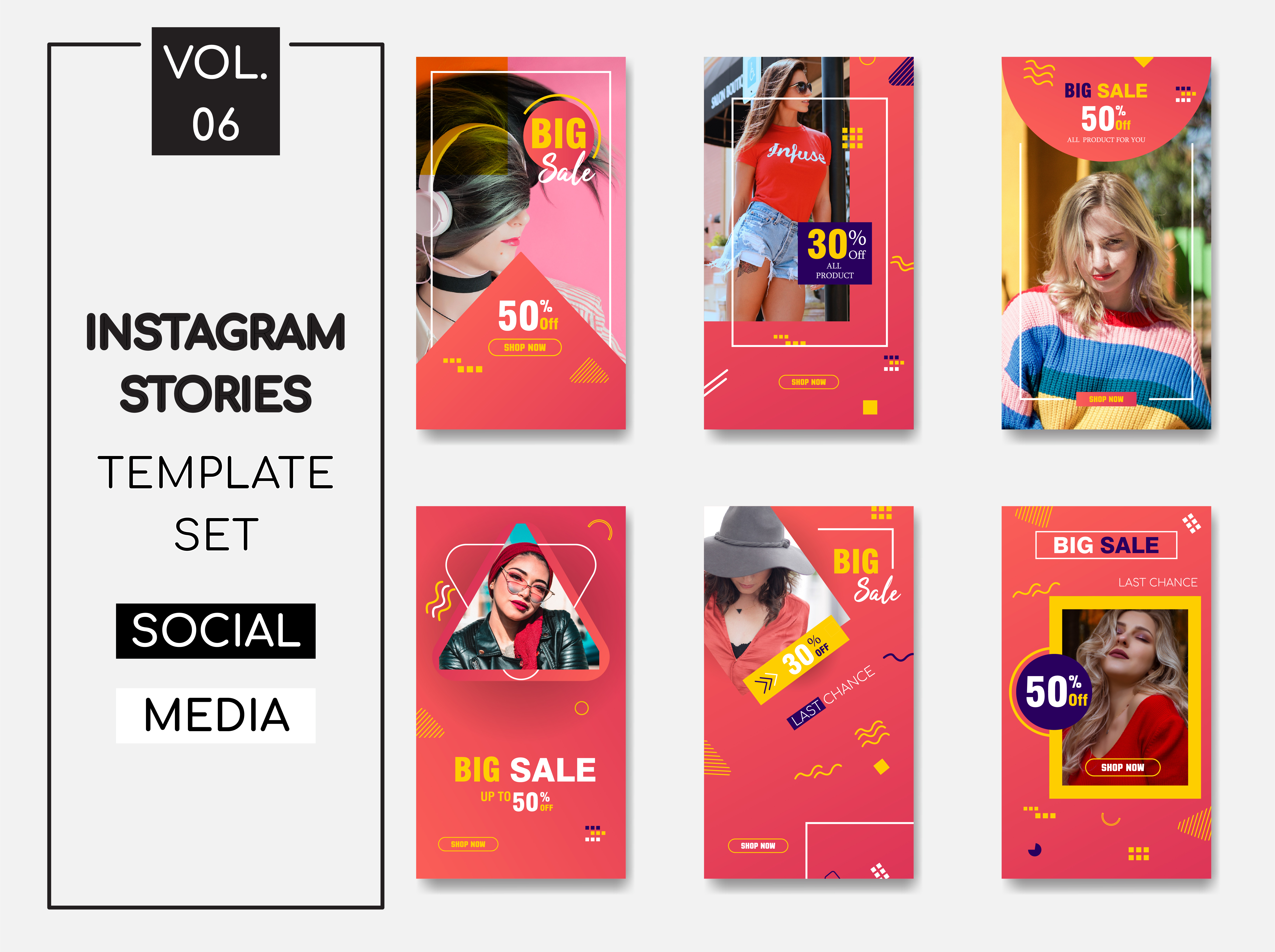 Download Free Instagram Stories Template Pack Vol 6 Graphic By Lukman Efendi93 for Cricut Explore, Silhouette and other cutting machines.