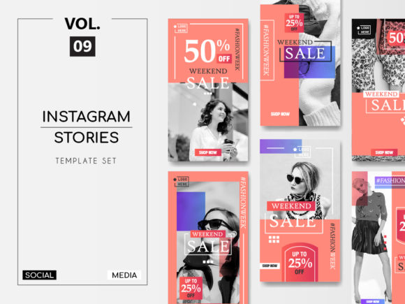 Download Free Instagram Stories Template Pack Vol 8 Graphic By Lukman Efendi93 for Cricut Explore, Silhouette and other cutting machines.