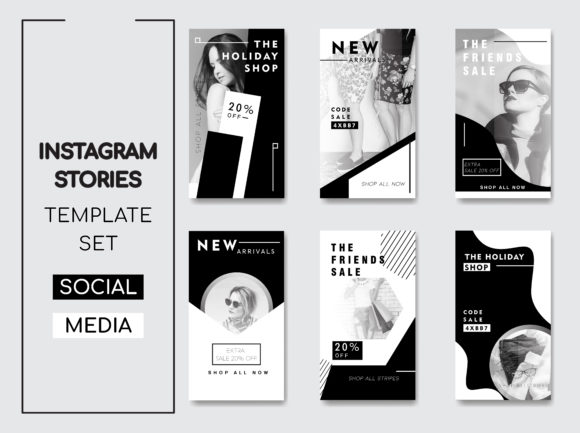 Instagram Stories Template Pack Graphic Web Elements By lukman.efendi93
