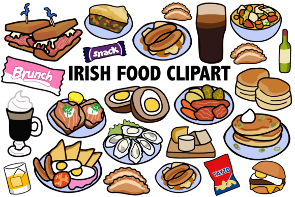 Irish Food Clipart Graphic By Mine Eyes Design