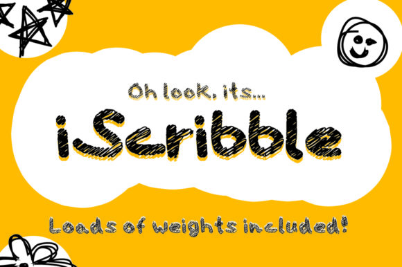 Print on Demand: Iscribble Script & Handwritten Font By GraphicsBam Fonts