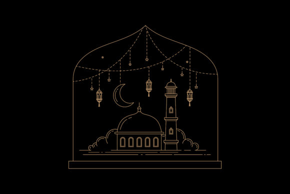 Print on Demand: Islamic Celebration of Ramadan Graphic Graphic Templates By sabavector - Image 1