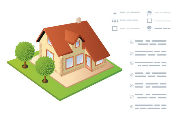 Isometric Vector House Graphic