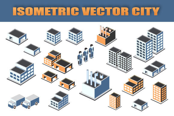 Print on Demand: Isometric Vector City Set Graphic Icons By AlexZel