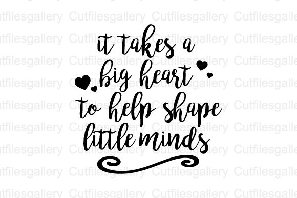 Download Free It Takes A Big Heart To Help Shape Svg Graphic By SVG Cut Files