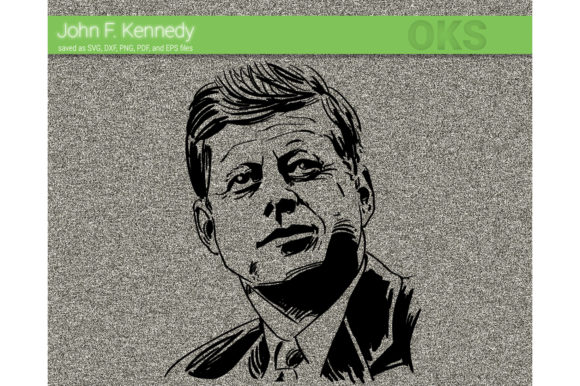 Print on Demand: JFK Vector Kennedy Graphic Crafts By CrafterOks