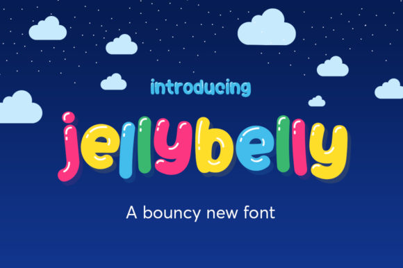 Print on Demand: Jellybelly Display Font By Salt & Pepper Designs