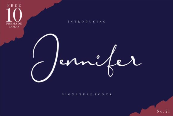 Print on Demand: Jennifer Script & Handwritten Font By goodjavastudio