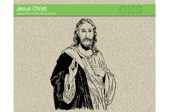 Download Free Jesus Christ Vector God Graphic By Crafteroks Creative Fabrica for Cricut Explore, Silhouette and other cutting machines.