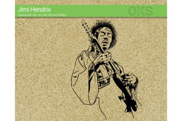 Download Free Jimi Hendrix Vector Graphic By Crafteroks Creative Fabrica for Cricut Explore, Silhouette and other cutting machines.