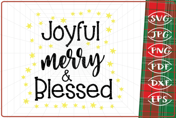 Download Free Joyful Merry And Blessed Christmas Graphic By Cute Graphic for Cricut Explore, Silhouette and other cutting machines.