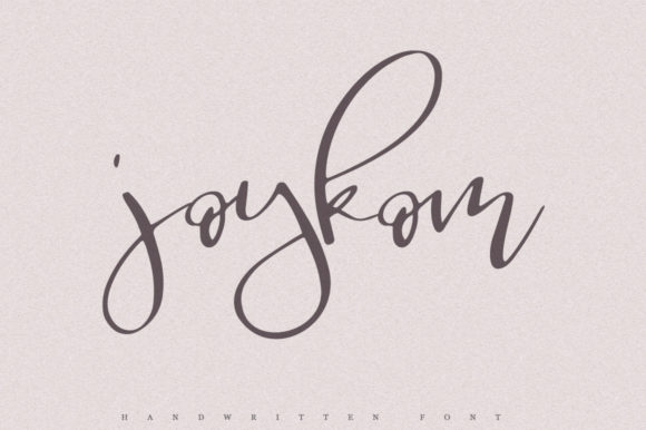 Print on Demand: Joykom Script & Handwritten Font By Katie Holland