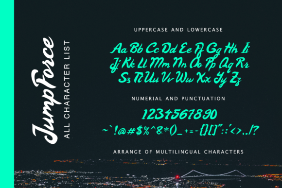 Print on Demand: Jump Force Display Font By Typia Nesia - Image 5