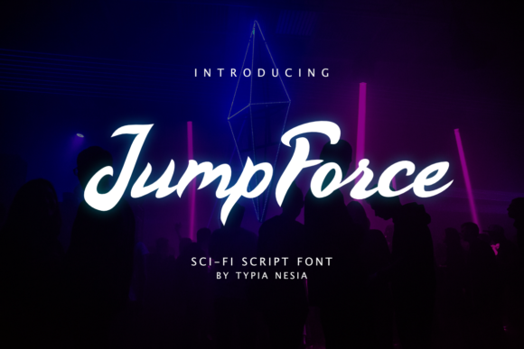 Print on Demand: Jump Force Display Font By Typia Nesia - Image 1