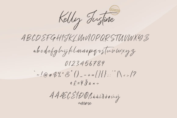 Print on Demand: Just Kelly Justine Duo Script & Handwritten Font By Khurasan - Image 7
