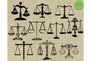 Download Free Justice Scale Bundle Clipart Graphic By Crafteroks Creative for Cricut Explore, Silhouette and other cutting machines.