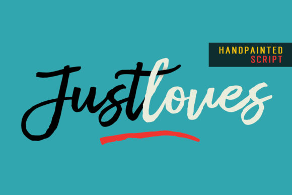 Print on Demand: Justloves Script & Handwritten Font By Dhan Studio