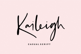 Kaileigh Font By Sronstudio