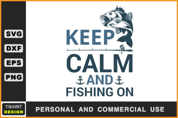Download Free Keep Calm And Fishing On Fishing Svg Graphic By Handmade Studio SVG Cut Files