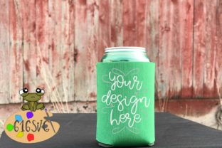 Kelly Green Can Cooler Mockup Graphic Product Mockups By 616SVG