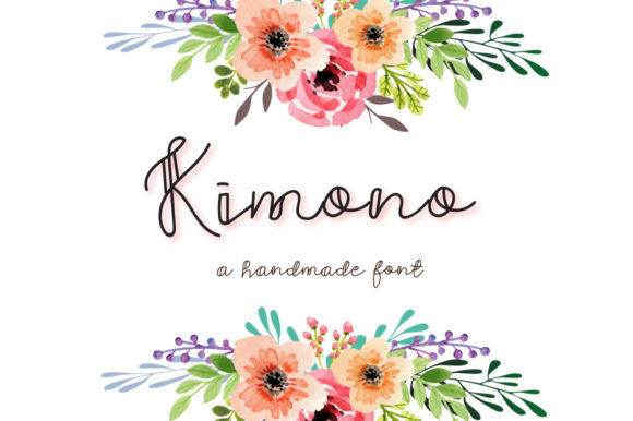 Print on Demand: Kimono Script & Handwritten Font By Autumn Designs