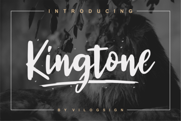 Print on Demand: Kingtone Script & Handwritten Font By Vilogsign