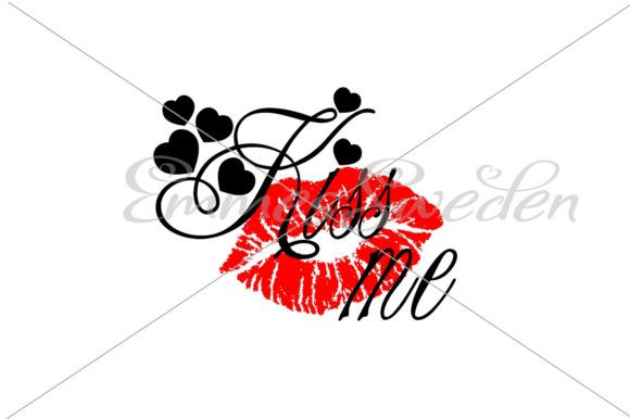 Download Free Kiss Me Lips Valentines Day Svg File Graphic By Emmessweden for Cricut Explore, Silhouette and other cutting machines.