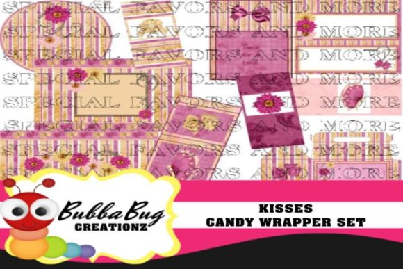 Kisses Candy Wrapper Set Graphic Crafts By BUBBABUG
