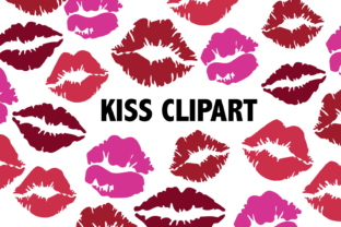 Kissing Lips Clipart Graphic By Mine Eyes Design