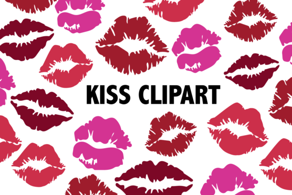 Print on Demand: Kissing Lips Clipart Graphic Icons By Mine Eyes Design