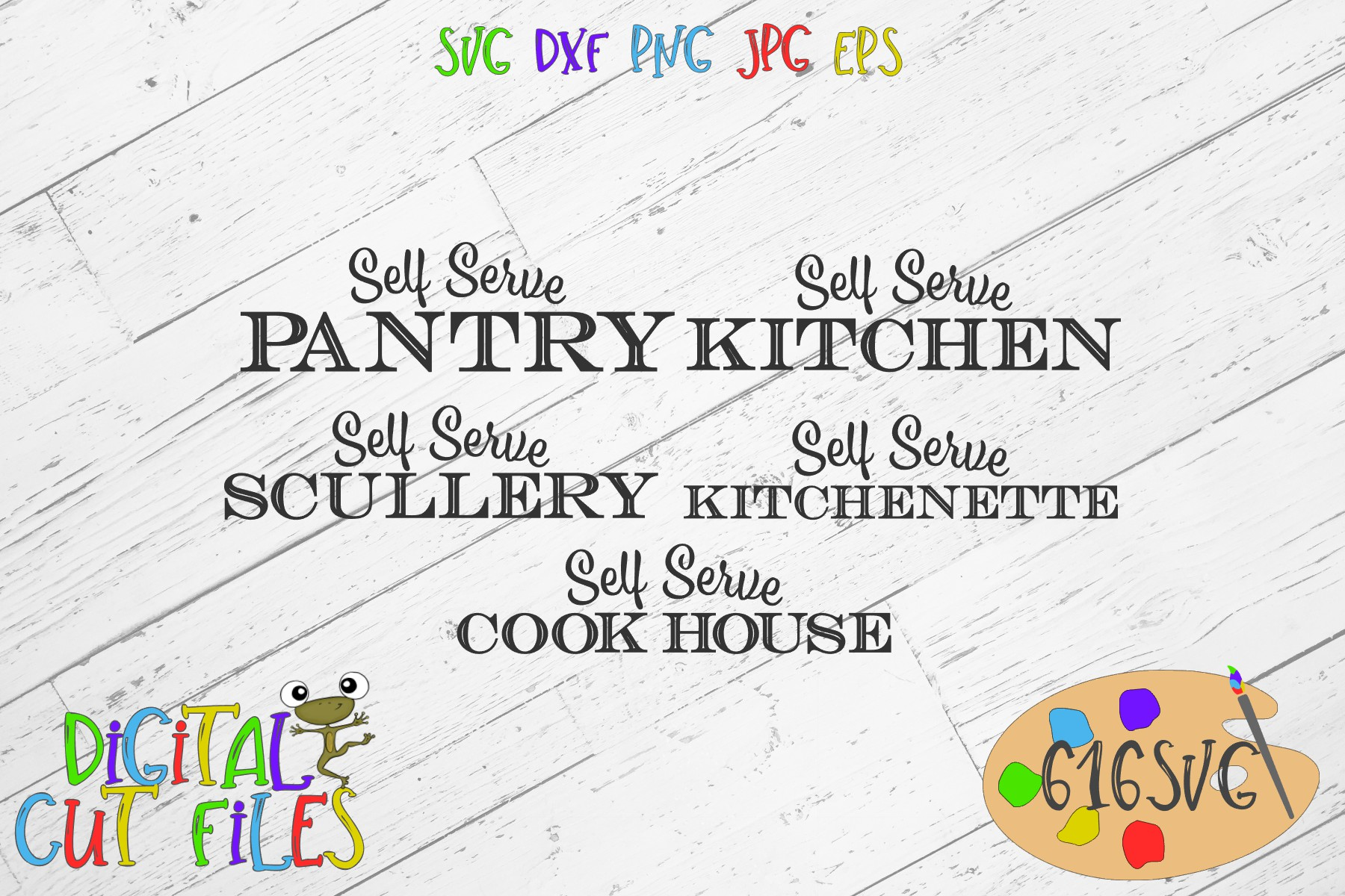 Download Free Kitchen Farm Signs Svg Mini Bundle Graphic By 616svg Creative Fabrica for Cricut Explore, Silhouette and other cutting machines.