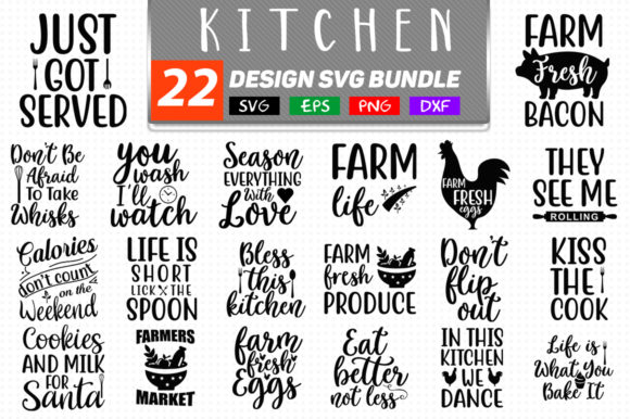 Download Free Kitchen Bundle Graphic By Handmade Studio Creative Fabrica for Cricut Explore, Silhouette and other cutting machines.