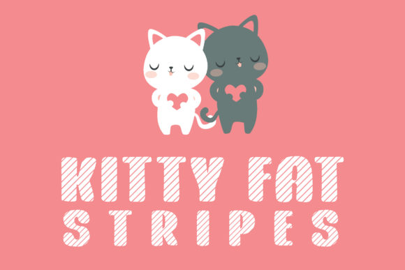 Print on Demand: Kitty Fat Stripes Display Font By Dasagani