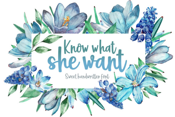 Print on Demand: Know What She Want Script & Handwritten Font By Rifki (7ntypes)
