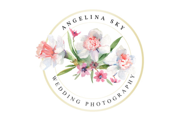 Download Free Logo With Roses And Narcissus Watercolor Graphic By Mystocks for Cricut Explore, Silhouette and other cutting machines.