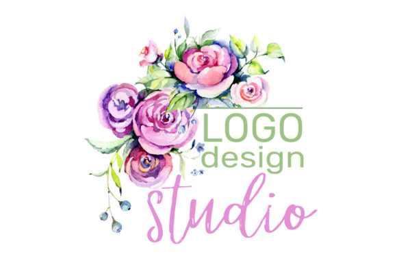 Print on Demand: Logo with Roses and Wildflowers Graphic Illustrations By MyStocks - Image 3