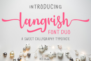 Download Free Langrish Duo Font By Ocs Studio Creative Fabrica for Cricut Explore, Silhouette and other cutting machines.