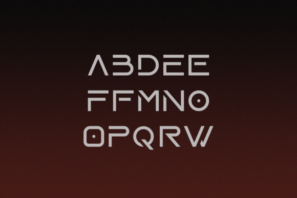 Print on Demand: Laser Display Font By Line creative - Image 3