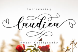 Print on Demand: Laudiea Script Manuscrita Fuente Por NissaStudio