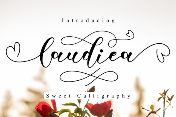 Print on Demand: Laudiea Script Script & Handwritten Font By NissaStudio