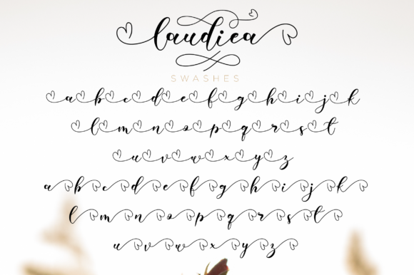 Print on Demand: Laudiea Script Script & Handwritten Font By NissaStudio - Image 8