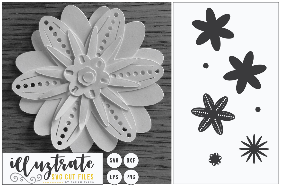 Download Free Layered Flower 1 Graphic By Illuztrate Creative Fabrica for Cricut Explore, Silhouette and other cutting machines.