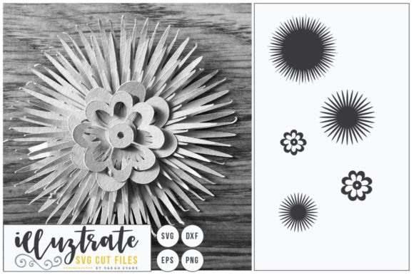 Print on Demand: Layered Flower SVG 4 Graphic Crafts By illuztrate - Image 1