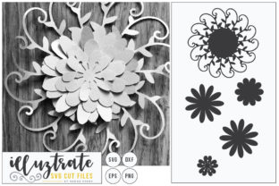 Download Free Layered Flower 5 Graphic By Illuztrate Creative Fabrica for Cricut Explore, Silhouette and other cutting machines.