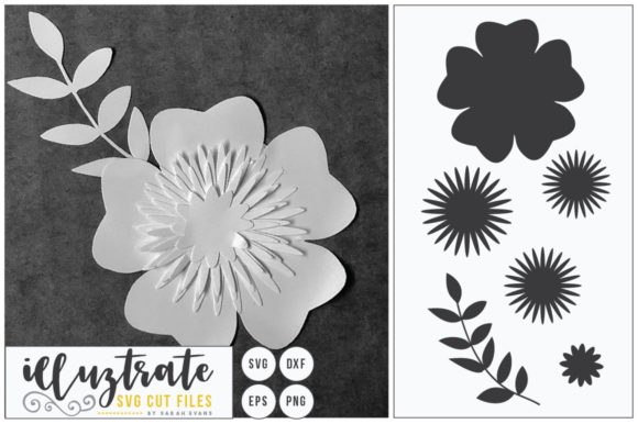 Print on Demand: Layered Flowers Bundle Graphic 3D Flowers By illuztrate - Image 3
