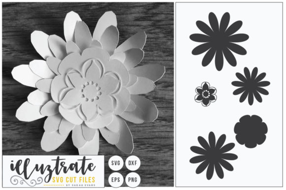 Layered Flowers SVG Bundle Graphic By illuztrate Image 4