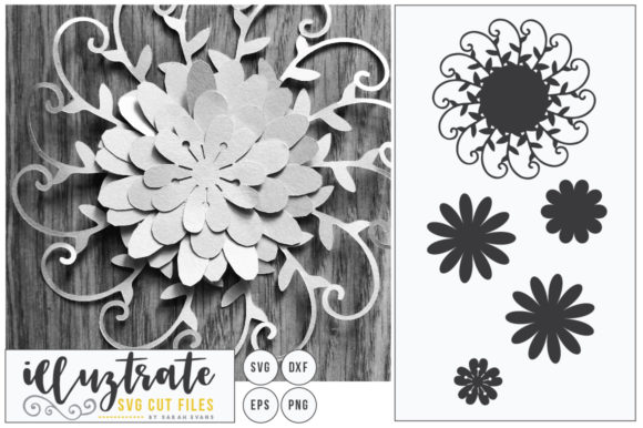 Print on Demand: Layered Flowers Bundle Graphic 3D Flowers By illuztrate - Image 7