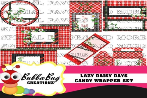 Lazy Daisy Days Candy Wrapper Set Graphic Crafts By BUBBABUG